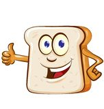 Slice bread mascot cartoon isolated. On white background vector illustration