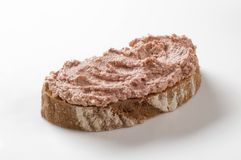 Slice of bread and pate Stock Photos
