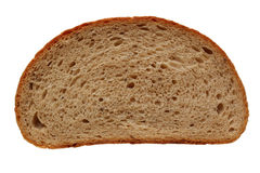 Slice of bread. Photo of slice of bread isolated on white background Royalty Free Stock Photography