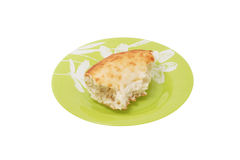 A slice of bread on a plate. Stock Photography