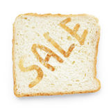 Slice of bread on sale Stock Images
