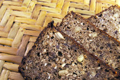 Slice of the bread with seeds Stock Photos