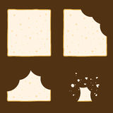 Slice Of Bread Set In Different Eating Stage Royalty Free Stock Images