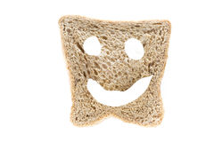 Slice of bread with smile Stock Photography