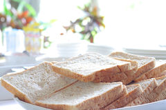 A slice of bread on the table Royalty Free Stock Images
