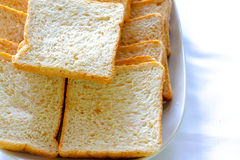 A slice of bread on the table Royalty Free Stock Photo