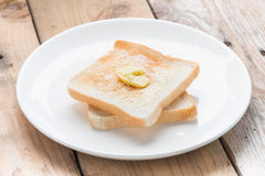 Slice of bread toast. Stock Images
