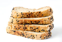 Slice bread. On white background stock image