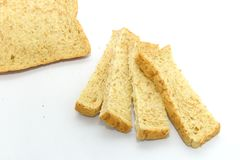 Slice of bread on white background. Stock Photography