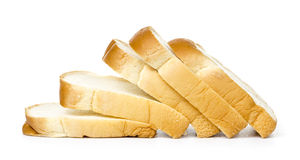 Slice Bread. White background front view Stock Image