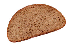 Slice of bread on white Royalty Free Stock Photos