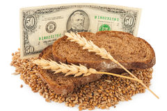 Free Slice Bread With Money Stock Images - 81661844
