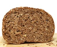 A slice of brown bread Royalty Free Stock Photos