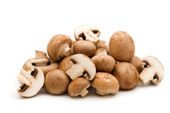 Slice brown champignon Royalty Free Stock Images