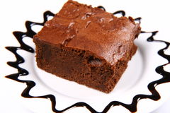 Slice of a brownie Royalty Free Stock Photography