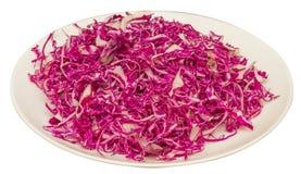 Slice cabbage violet Stock Images