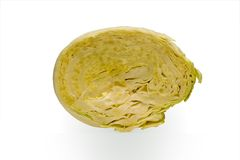Slice cabbage on a white background Royalty Free Stock Image