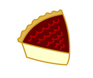 Slice of cake. Digital illustration on a white background representing a slice of a cheesecake Royalty Free Stock Image