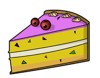 Slice of cake. A funny slice of cake royalty free illustration