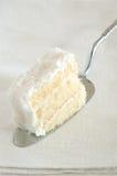 Slice of cake. Slice of coconut cake Stock Image