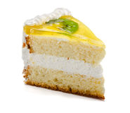 Slice of  cake Stock Photos