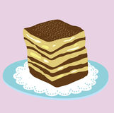 Slice of cake abstract Royalty Free Stock Photo