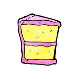 Slice of cake cartoon Stock Image