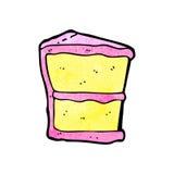 Slice of cake cartoon Stock Image