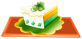 A slice of cake for the celebration of St. Patrick's day Stock Photo