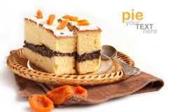 Slice of cake with poppy seeds Royalty Free Stock Photography