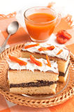 Slice of cake with poppy seeds Stock Image