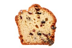 Slice of cake with raisins Royalty Free Stock Photos