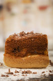 Slice of cake rear view Royalty Free Stock Photography