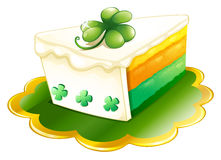 A slice of cake for St. Patrick's Day Royalty Free Stock Image