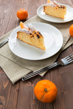 Slice of cake to the Mandarin Royalty Free Stock Photo