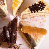 Slice of Cakes Stock Photos