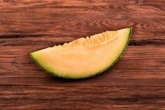 Slice cantaloupe melon Royalty Free Stock Photo