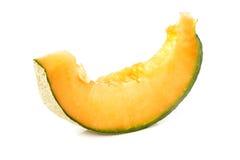 Slice of cantaloupe melon isolated Stock Photography