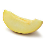 Slice of cantaloupe melon Stock Images