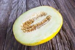 Slice of Cantaloupe melon Royalty Free Stock Image
