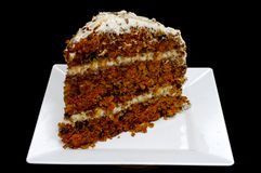 Slice of Carrot Cake Royalty Free Stock Photography
