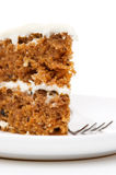 Slice of carrot cake Stock Photography
