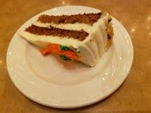 Slice of carrot cake for dessert. Slice carrot cake dessert tasty delicious sweet sugar restaurante bakery pastry breakfast snack plate food meal vegetarian stock images