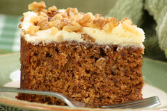 Slice of carrot cake Royalty Free Stock Photos