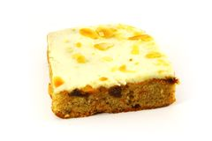 Slice of Carrot Cake Square Royalty Free Stock Photos