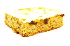 Slice of Carrot Cake Square Stock Photos