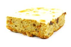 Slice of Carrot Cake Square Royalty Free Stock Image