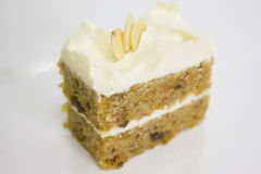 Slice of Carrot Cake Square Stock Images