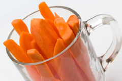 Slice of carrot Royalty Free Stock Image