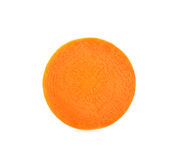 Slice with carrot isolated on the white background Royalty Free Stock Photography